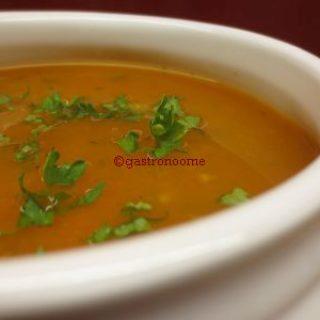 Soupe de carottes épicée
