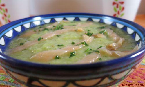 Soupe de poireaux pommes de terre au saumon fumé