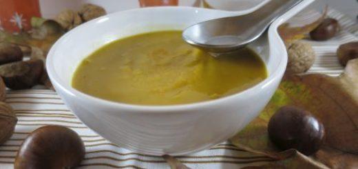 Soupe de butternut aux chataîgnes
