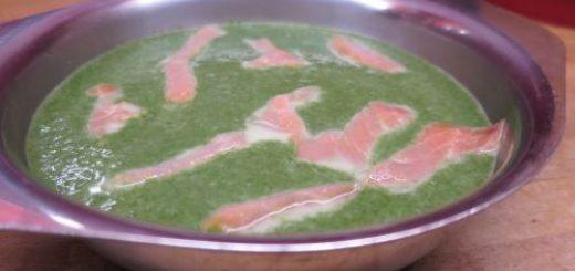 Velouté épinards et saumon light