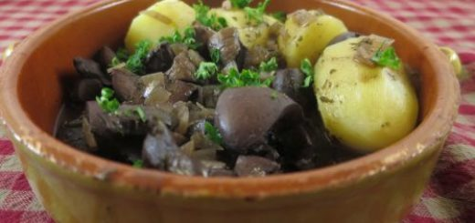 Rognons de porc au vin rouge light