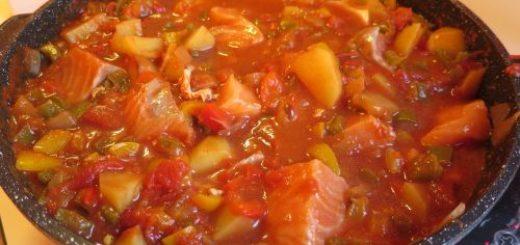 Saumon aux poivrons