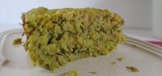 Gâteau salé carottes & lentilles corail