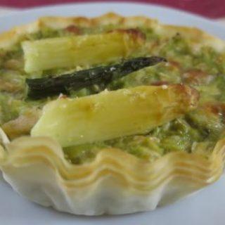 Tartelettes aux asperges light