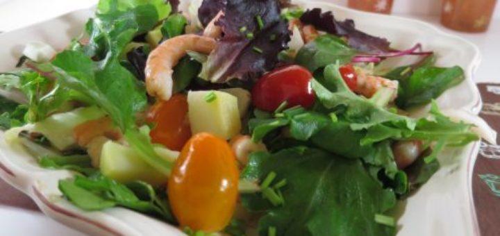 Salade light aux crevettes