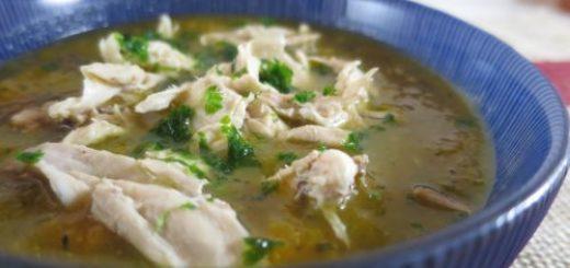 Soupe légère légumes et poulet