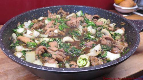 Emincé de poulet au chou Pak Choï