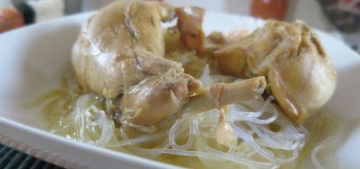 Lapin et nouilles de soja