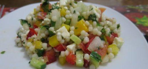 Salade de couscous israélien mangue & feta