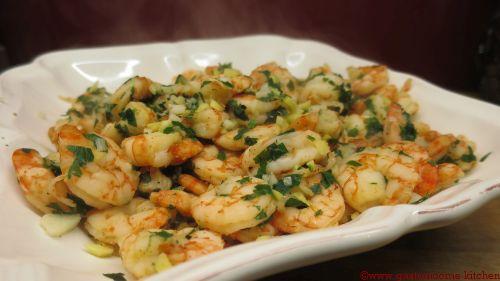 Crevettes à l'ail et au gingembre à l'actifry sans MG - Gastronoome Kitchen light