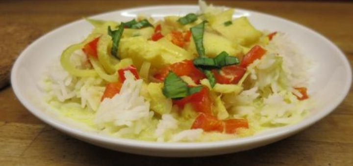 Wok de poisson au curry