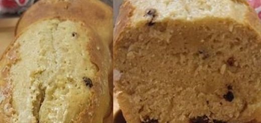 Gâteau au lait et raisins sec