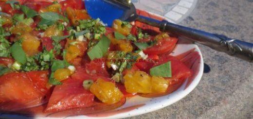 Salade aux deux tomates