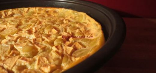 Clafoutis pomme & raisin blanc
