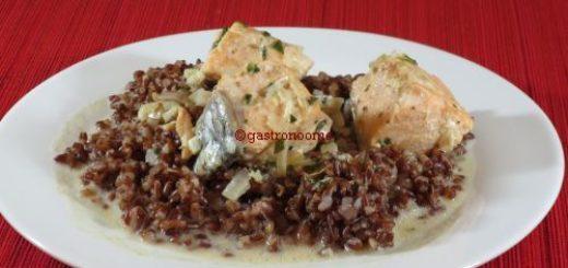 Saumon au cidre et son riz rouge