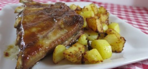 Travers de porc au miel (cuisson au four)