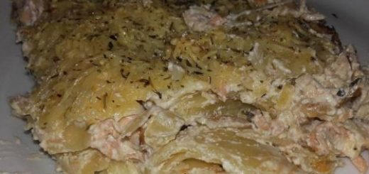Gratin de lasagnes au saumon fumé