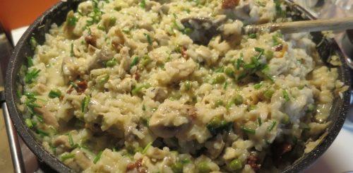 Risotto poulet & champignons
