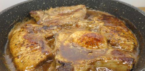 Côtes de porc aux épices et au miel