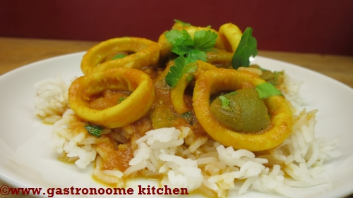 Calamars au curry