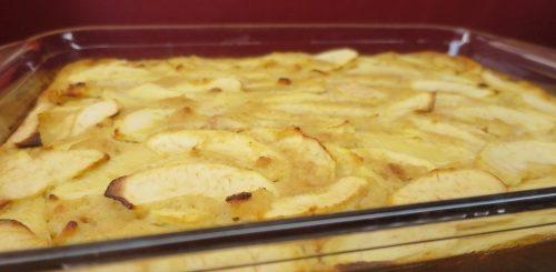Gâteau aux biscottes aux pommes