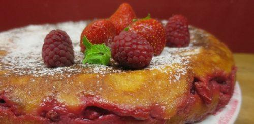 Pudding fraises et framboises