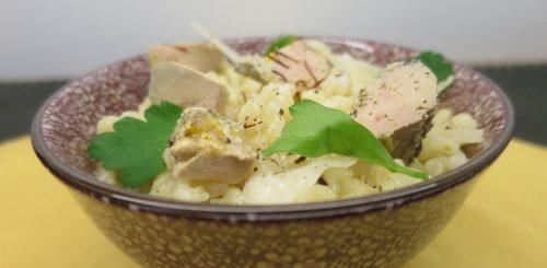 Risotto au beurre de truffe et foie gras