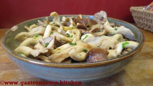 Salade cuite de champignons