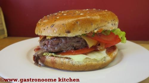 Cheese burger maison