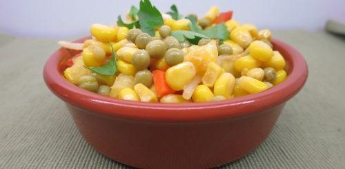 Maïs et petits pois au sirop d'érable