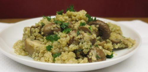 Poêlée de quinoa aux champignons - recette végétarienne