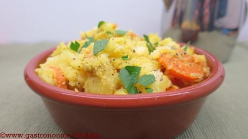 Gratin de pommes de terre panais et carottes