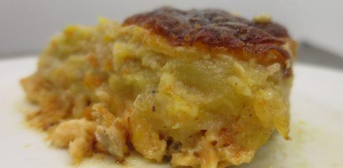 Parmentier de panais & carottes au saumon