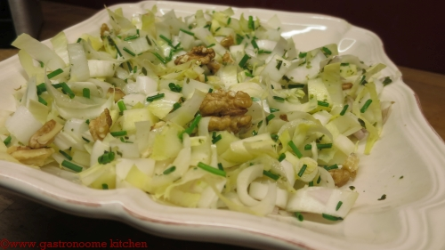 Salade d'endives aux noix vegan