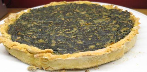 Vegan - Tarte aux épinards vegetalienne