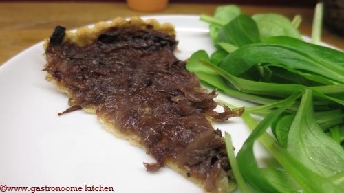 vegan - Tarte aux oignons confits