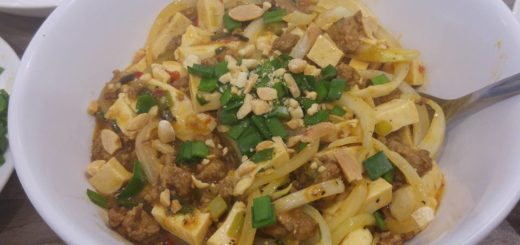 Porc haché et tofu sauce pimenté