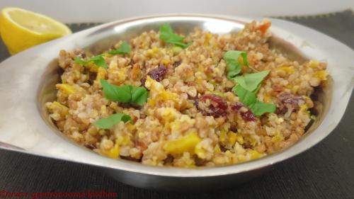 Vegan - Salade de sarrasin au fèves de soja